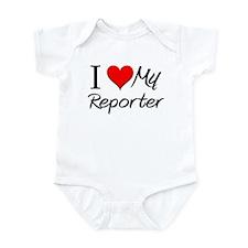 I Heart My Reporter Infant Bodysuit