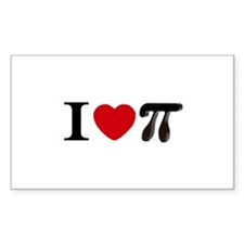 I love Pi Rectangle Decal
