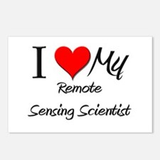 I Heart My Remote Sensing Scientist Postcards (Pac