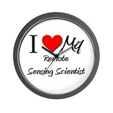 I Heart My Remote Sensing Scientist Wall Clock