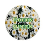 Green Queen Ornament (Round)