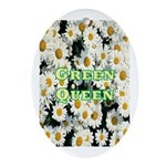 Green Queen Oval Ornament