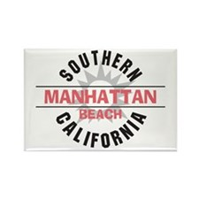 Manhattan Beach CA Rectangle Magnet