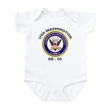 USS Washington BB 56 Infant Bodysuit