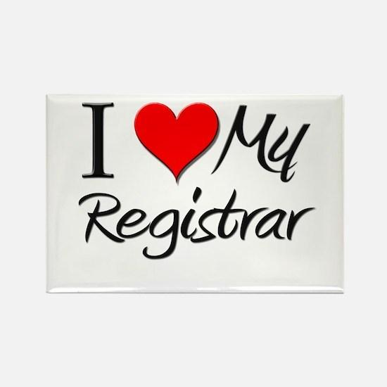 I Heart My Registrar Rectangle Magnet