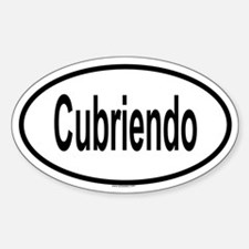 CUBRIENDO Oval Decal