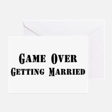 Game Over Getting Married Greeting Card