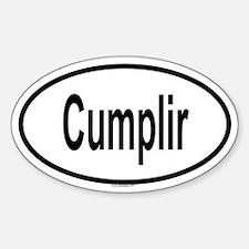 CUMPLIR Oval Decal