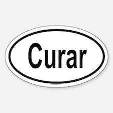 CURAR Oval Decal