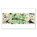 Green Queen Rectangle Sticker