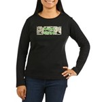 Green Queen Women's Long Sleeve Dark T-Shirt