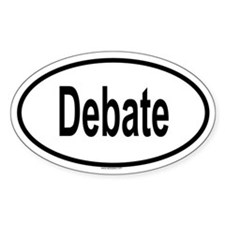 DEBATE Oval Decal