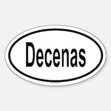 DECENAS Oval Decal