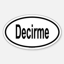 DECIRME Oval Decal