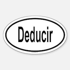 DEDUCIR Oval Decal