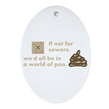 World of Poo Oval Ornament