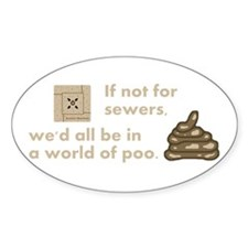 World of Poo Oval Decal
