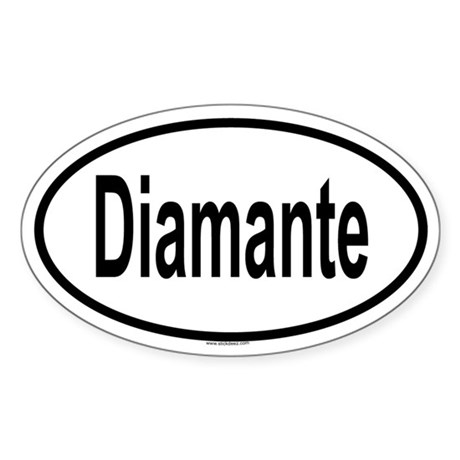 DIAMANTE Oval Sticker