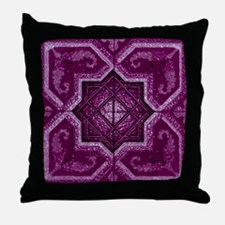 Abstract 7 (Violet) Throw Pillow