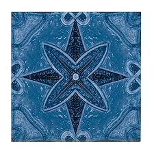 Abstract 5 (Blue) Tile Coaster