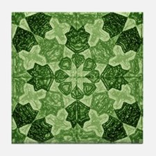 Green Abstract 6 Tile Coaster
