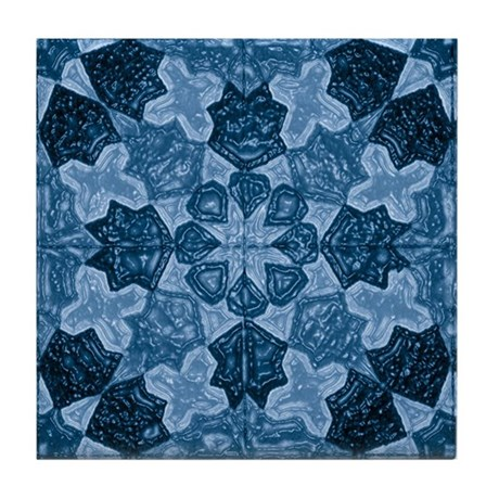 Abstract 1 (Blue) Tile Coaster