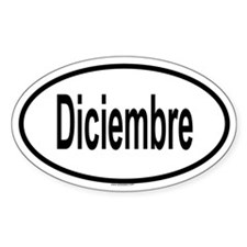 DICIEMBRE Oval Decal