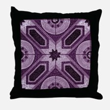 Violet ABstract 7 Throw Pillow
