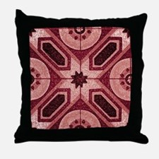 Red Abstract 7 Throw Pillow