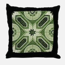 Green Abstract 7 Throw Pillow