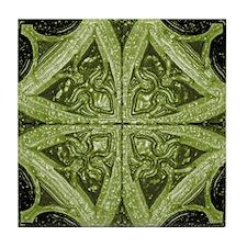 Abstract 8 (Green) Tile Coaster