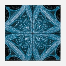 Abstract 8 (Blue) Tile Coaster