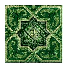 Abstract 7 (Green) Tile Coaster