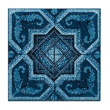 Abstract 7 (Blue) Tile Coaster