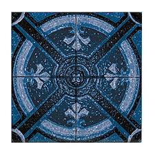 Abstract 6 (Blue) Tile Coaster