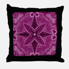 Purple Abstract 5 Throw Pillow