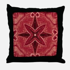 Red Abstract 5 Throw Pillow