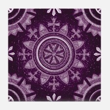 Violet Abstract 8 Tile Coaster