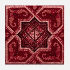 Abstract 7 (Red) Tile Coaster