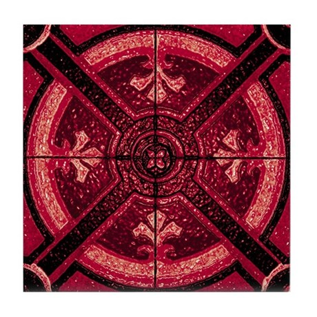 Abstract 6 (Red) Tile Coaster