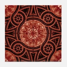 Red Abstract 4 Tile Coaster