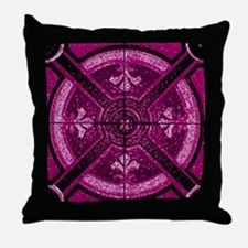 Violet Abstract 3 Throw Pillow
