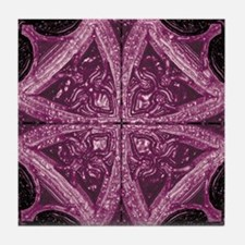 Abstract 8 (Violet) Tile Coaster