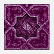 Abstract 7 (Violet) Tile Coaster