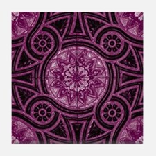 Violet Abstract 4 Tile Coaster