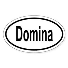 DOMINA Oval Decal