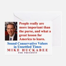 Huckabee for President, People are Important Greet