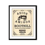 Tombstone Boot Hill Framed Panel Print