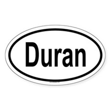DURAN Oval Decal