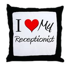 I Heart My Receptionist Throw Pillow